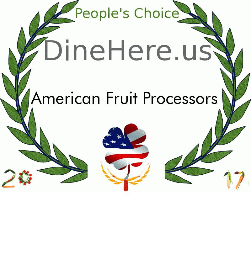 American Fruit Processors DineHere.us 2017 Award Winner